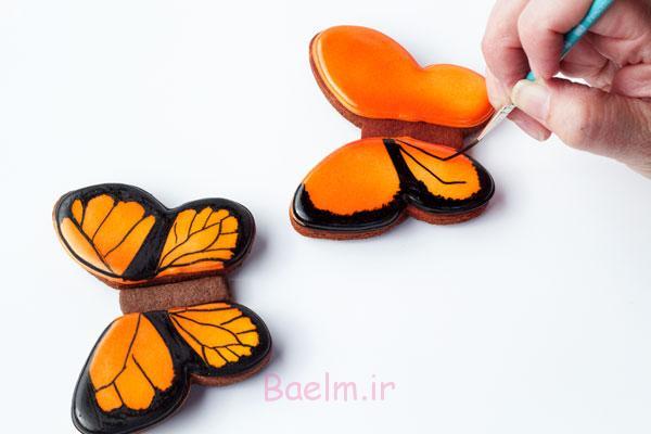 کوکی ها پروانه ساده - آسان برای تزئین کردن کوکی ها پروانه و گام به گام آموزش