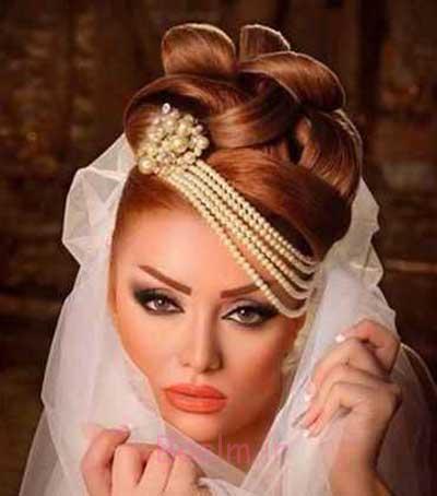 زیباترین آرایش صورت و موی عروس,جدیدترین مدل آرایش صورت عروس