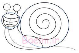 نقاشی حلزون,آموزش نقاشی حلزون,نقاشی کشیدن