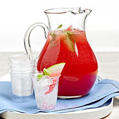 آموزش انواع نوشیدنی | طرز تهیه آب میوه هندوانه (ساده و خوشمزه)