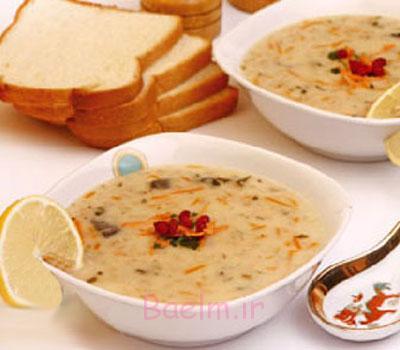 آموزش انواع سوپ | طرز تهیه سوپ جو پرک در مایکروویو مخصوص افطار