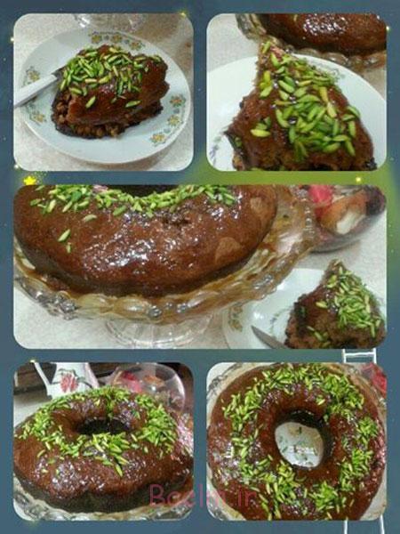 آموزش انواع کیک خانگی | دستور پخت کیک خرما با سس کاراملی