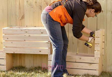 آموزش تصویری | درست کردن باغچه دیواری یا عمودی به شکل بسیار زیبا