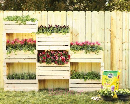نحوه ساخت باغچه دیواری,طراحی باغچه های جدید