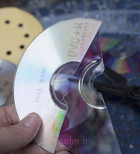 تزیین ظرف های شکسته,تزیین وسایل خانه با cdهای شکسته