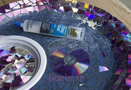 تزیین ظرف های شکسته,کاربردهای سی دی های شکسته
