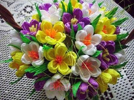 ساخت گل با کاغذ کشی,آموزش گلسازی