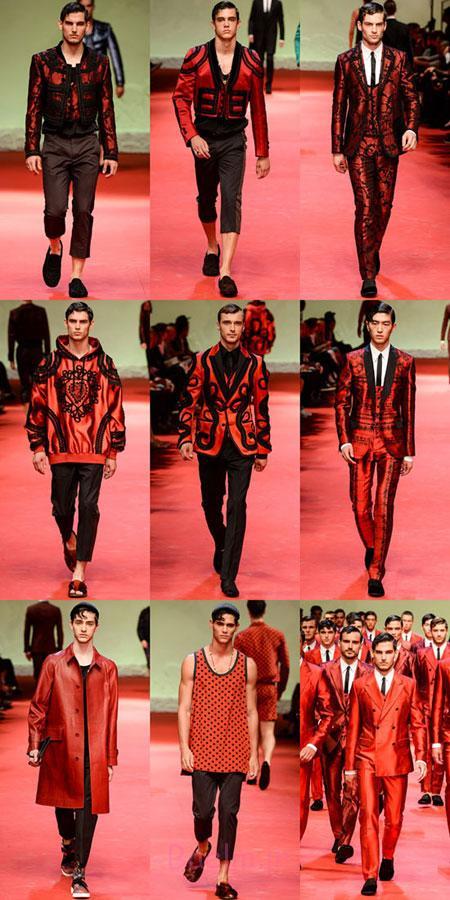 مُدل لباس بهار و تابستان 2015,مدل لباس های قرمز بهاری