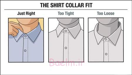 اندازه مناسب پیراهن مردانه,اصول خرید پیراهن مردانه