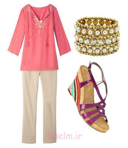 راهنمای ست کردن لباس,ایده هایی برای ست کردن با شلوارهای ساده