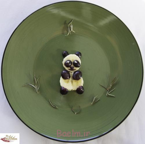 Food Art for kids banana panda
