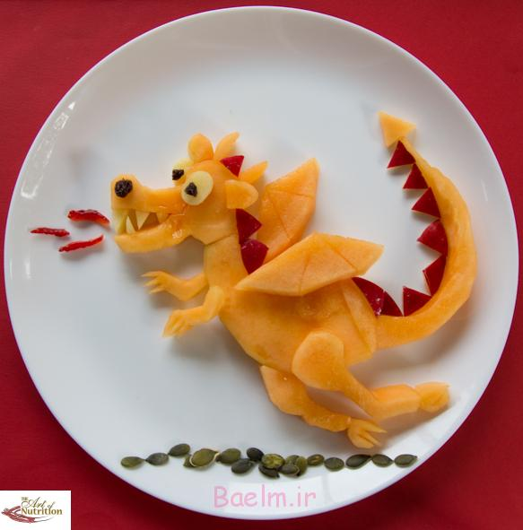 Fun food art Melon Dragon