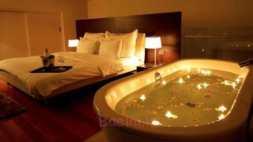 دکوراسیون اتاق خواب زیبا با شمع (1)