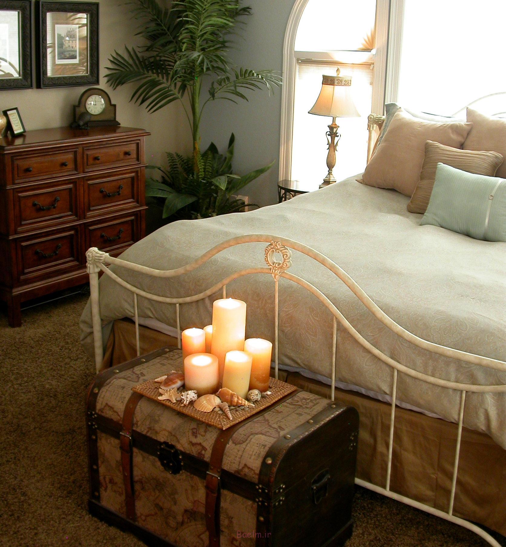 دکوراسیون اتاق خواب زیبا با شمع (11)