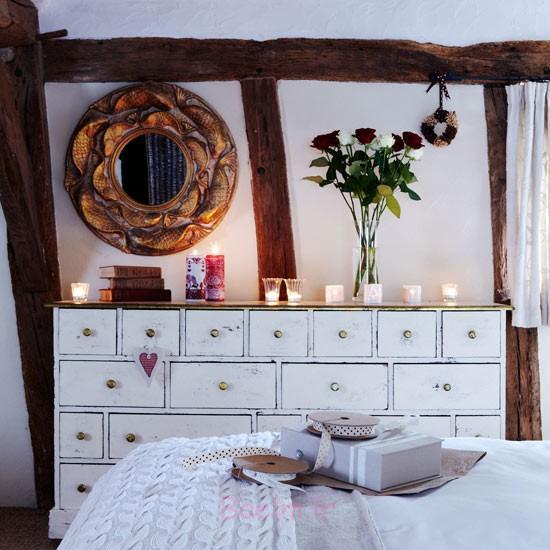 دکوراسیون اتاق خواب زیبا با شمع (3)