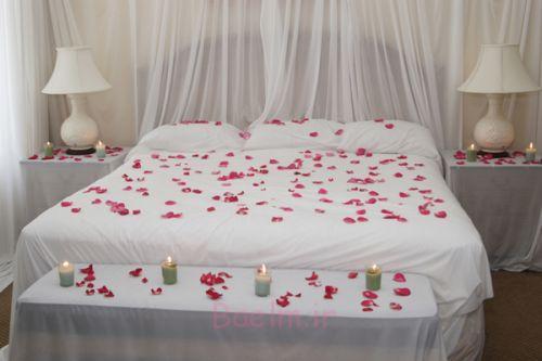 دکوراسیون اتاق خواب زیبا با شمع (5)