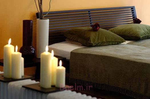 دکوراسیون اتاق خواب زیبا با شمع (6)