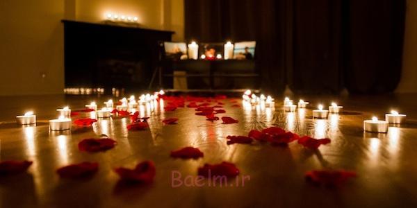 دکوراسیون اتاق خواب زیبا با شمع (8)