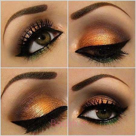 آرایش چشم, آرایش چشم تصاویر, آرایش چشم قهوه ای, آرایش چشم