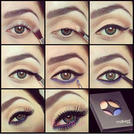 آموزش آرایش بنفش چشم,آرایش بنفش,مدل آرایش بنفش