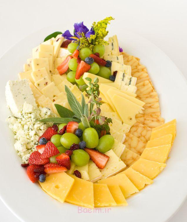 دکوراسیون مواد غذایی پنیر سرد