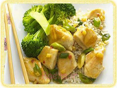 خوراک مرغ و برنج رژیمی(کم کلسترول)