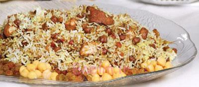 مواد لازم و طرز تهیه نخودپلو با کشمش غذای گلستان برای سحر