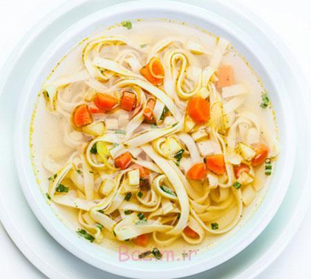 آموزش انواع سوپ | مواد لازم و طرز تهیه سوپ نودل با سبزیجات