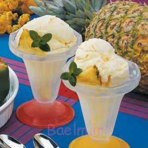 بستنی آناناسی،آموزش انواع بستنی