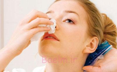 علل خونریزی بینی,دلایل خونریزی بینی,درمان خون دماغ