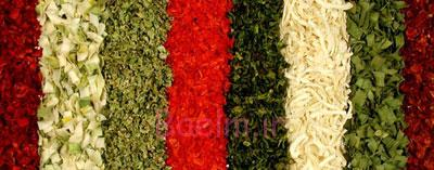 شستوشوی سبزیجات،سبزیجات,سبزیجات خشک شده