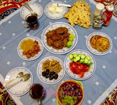 غذاهای پُر چرب, تغذیه مناسب در ماه رمضان