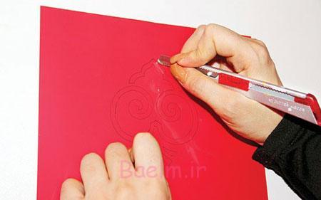 آموزش چاپ استنسیل روی دستمال سفره