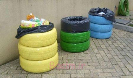 لاستیک,ایده های استفاده از لاستیک,کاربرد لاستیک های بازیافتی