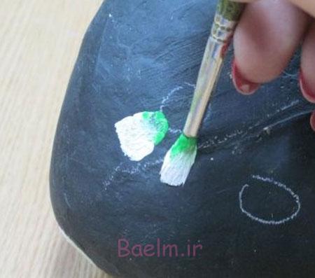 آموزش مرحله ای نقاشی روی سنگ,نحوه نقاشی روی سنگ