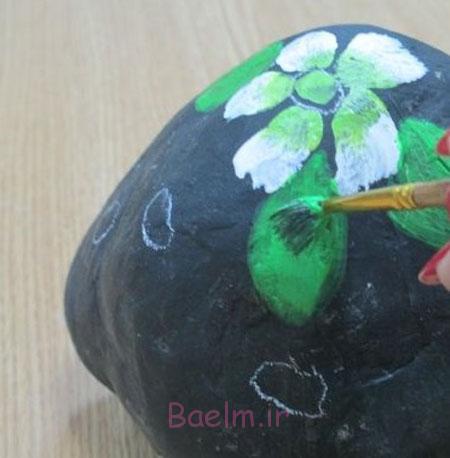 طرز نقاشی روی سنگ, آموزش مرحله ای نقاشی روی سنگ