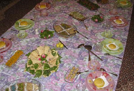 تزیین سفره ماه رمضان, تزیینات سفره افطار