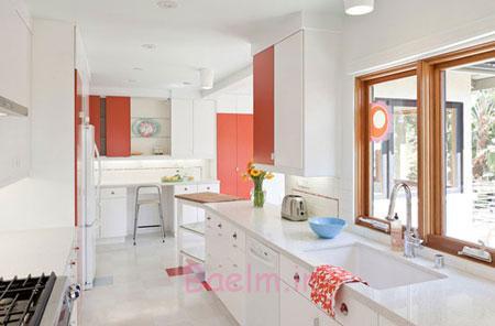 طراحی داخلی آشپزخانه,طراحی و دکوراسیون آشپزخانه,کابینت های آشپزخانه های سفید