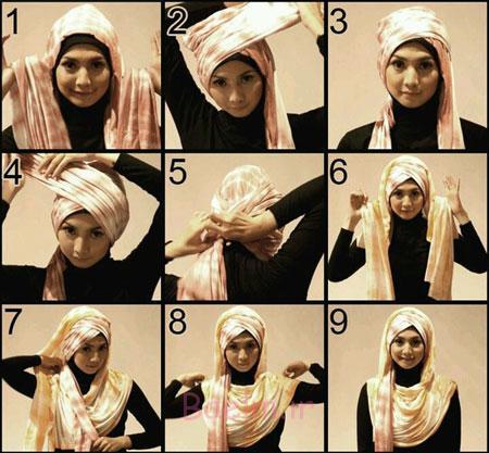 آموزش بستن شال و روسری,آموزش رایگان بستن شال و روسری,آموزش مدل های بستن شال و روسری