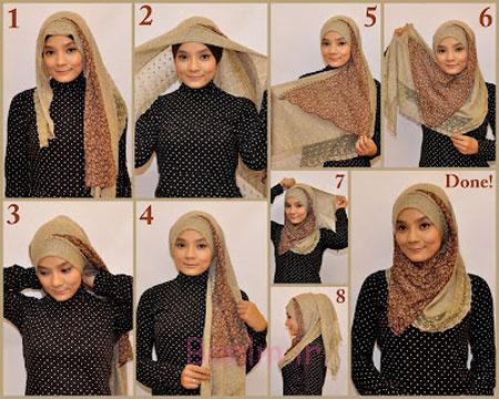آموزش بستن شال و روسری,موزش تصویری بستن شال و روسری,آموزش بستن روسری و شال