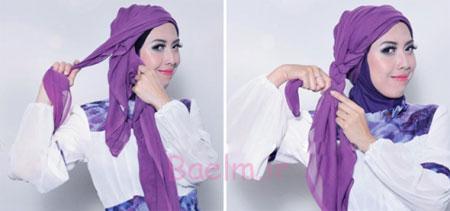 آموزش بستن شال و روسری ایرانی,آموزش رایگان بستن شال و روسری,آموزش مدل های بستن شال و روسری