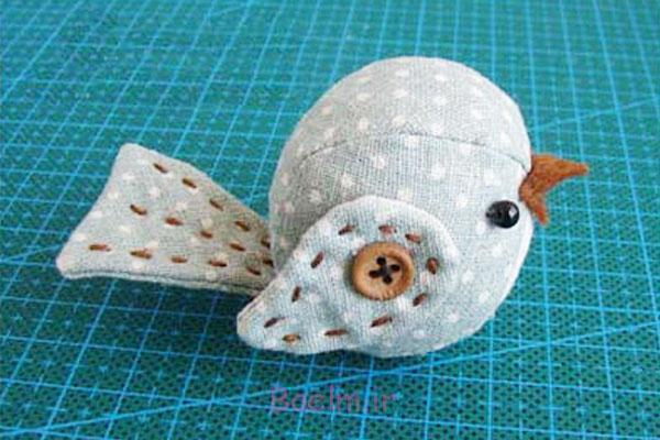آموزش دوخت عروسک پرنده پارچه ای بسیار راحت و بانمک | آموزش تصویری