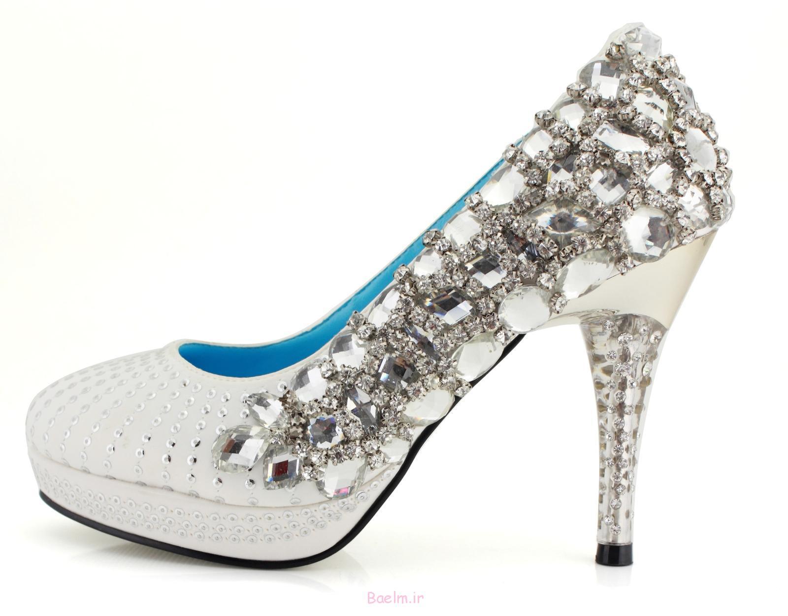 1 10cm توسط عروسی پاشنه بلند کفش عروس
