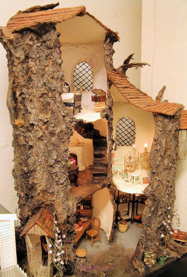 1 خانه عروسکی چوبی فرزندان خود آنها را دوست دارم