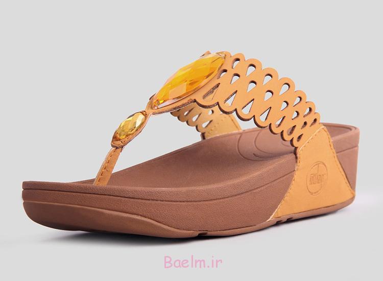1 کفش زیبا زرد