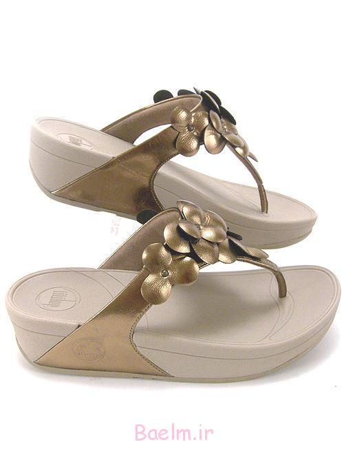 2 کفش طلایی زیبا