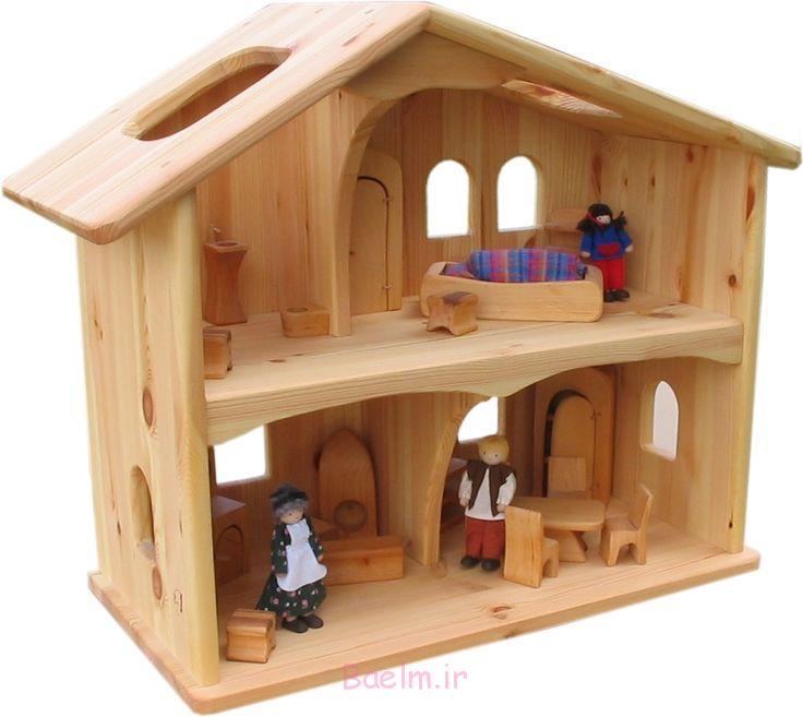 2 خانه عروسکی چوبی فرزندان خود آنها را دوست (12)