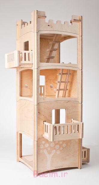 3 خانه عروسکی چوبی فرزندان خود آنها را دوست (15)