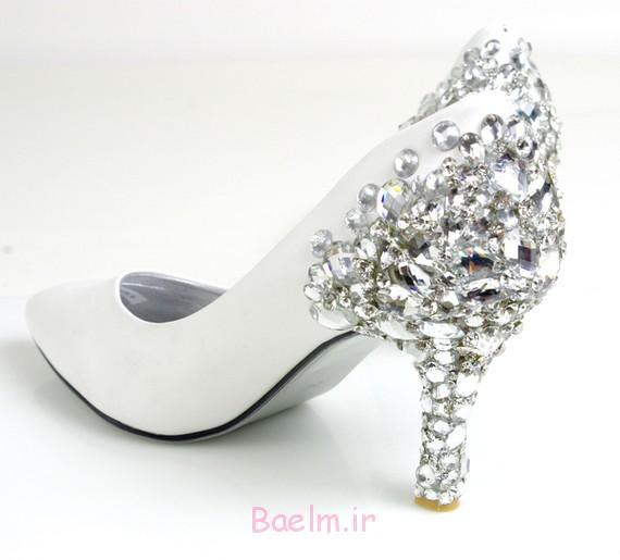 مدل کفش پاشنه بلند عروس مدل کفش پاشنه بلند فشن کفش مخمل،کفش