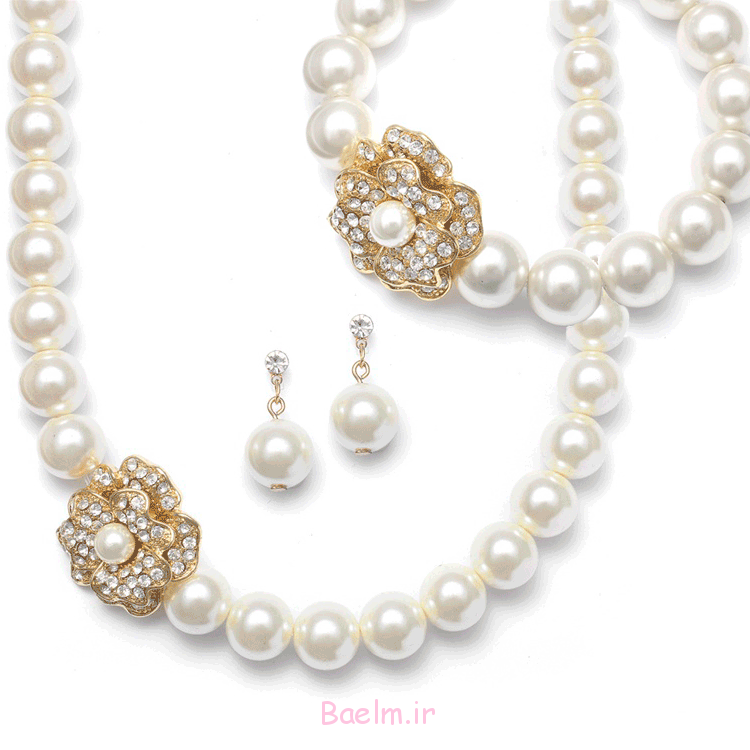 شگفت انگیز مروارید مجموعه جواهرات عروسی (1)